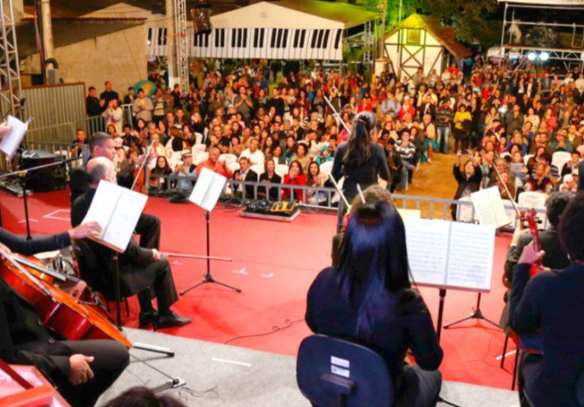 Um dos palcos principais do Festival de Inverno de Domingos Martins © Festival de Inverno de Domingos Martins-ES