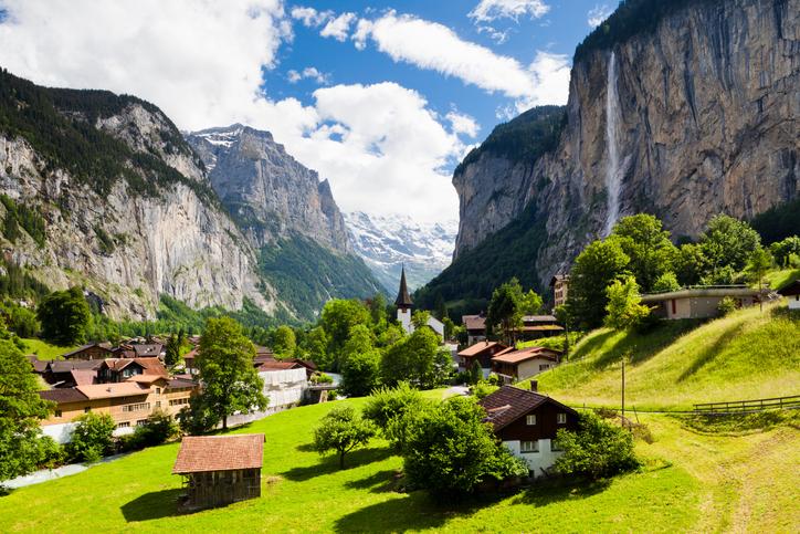 A cidade de Lauterbrunnen
