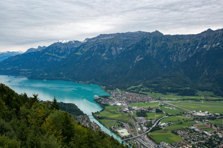 Vista da cidade de Interlaken