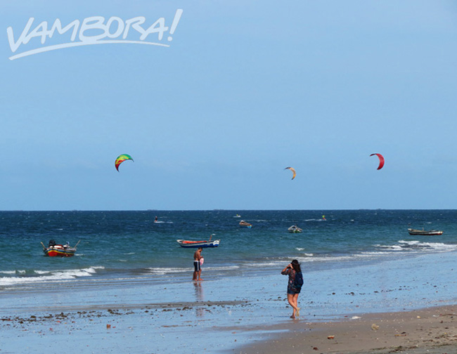 Kitesurf na Praia do Prea, no Ceara