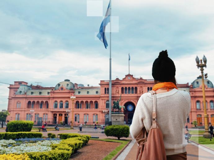 A Casa Rosada na Plaza de Mayo é uma das principais atrações de Buenos Aires