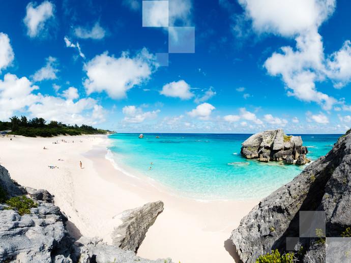 O lado sul da Ilha de Hamilton, nas Bermudas, reserva algumas das praias mais bonitas do Caribe