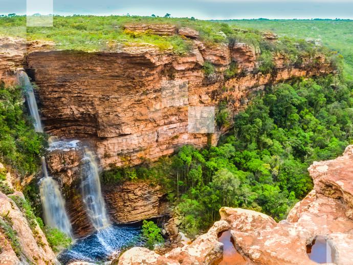 A Cachoeira do Ferro Doido é uma das mais bela vistas de toda a Chapada Diamantina