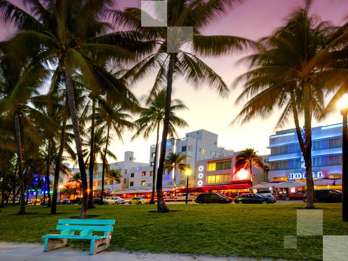 Na Black Friday Brasil você pode comprar a passagem e ver depois o por do sol em South Beach, uma das áreas mais charmosas de Miami
