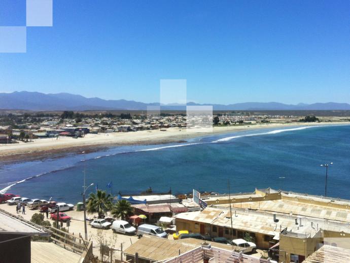 A refrescante Playa Blanca, na região de Coquimbo