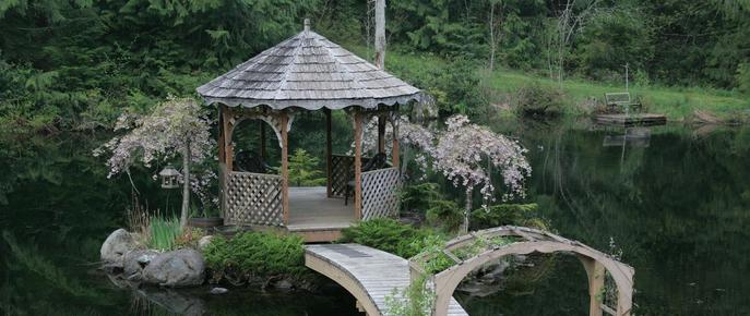A Hidden Haven & Water Garden Cottages - Port Angeles - Pátio